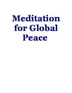 Meditation for Global Peace