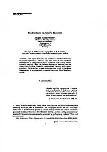 Meditations on Ceva s Theorem
