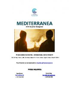 MEDITERRANEA. A film by Jonas Carpignano *** 2015 CANNES FILM FESTIVAL - INTERNATIONAL CRITICS WEEK ***