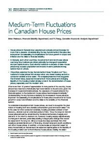 Medium-Term Fluctuations in Canadian House Prices