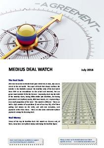 MEDIUS DEAL WATCH July 2016