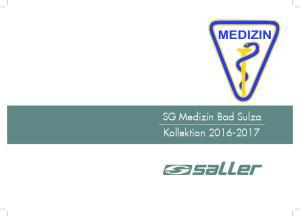 MEDIZIN. SG Medizin Bad Sulza Kollektion
