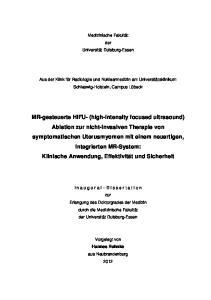 Medizinische Fakultät. der Universität Duisburg-Essen