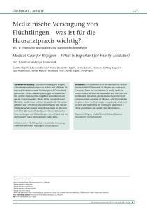 Medizinische Versorgung von Flüchtlingen was ist für die Hausarztpraxis wichtig?