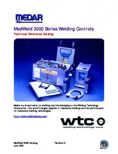 MedWeld 3000 Series Welding Controls