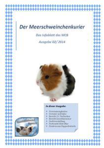 Meerschweinchen Club Bayern e.v. In dieser Ausgabe: