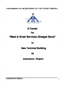 Meet & Greet Services (Swagat Seva)
