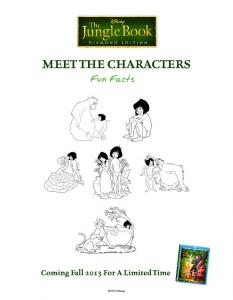 MEET THE CHARACTERS Coming Fall 2013 For A Limited Time