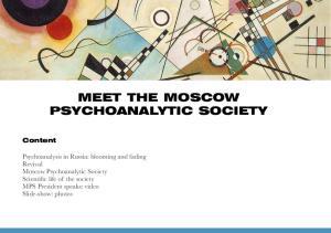 MEET THE MOSCOW PSYCHOANALYTIC SOCIETY