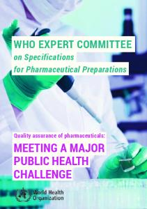 MEETING A MAJOR PUBLIC HEALTH CHALLENGE