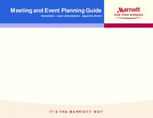 Meeting and Event Planning Guide