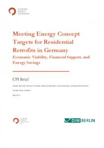 Meeting Energy Concept Targets for Residential Retrofits in Germany
