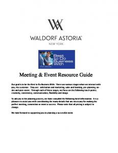 Meeting & Event Resource Guide