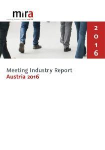 Meeting Industry Report Austria 2016