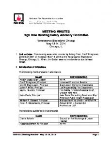 MEETING MINUTES High Rise Building Safety Advisory Committee