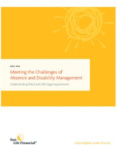 Meeting the Challenges of Absence and Disability Management