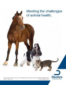 Meeting the challenges of animal health