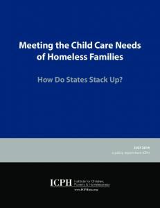 Meeting the Child Care Needs of Homeless Families