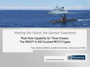 Meeting the Future: the German Experience