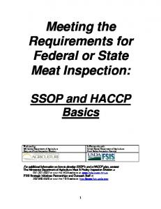 Meeting the Requirements for Federal or State Meat Inspection: