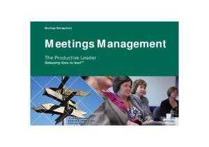 Meetings Management. Meetings Management