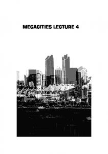 MEGACITIES LECTURE 4 3