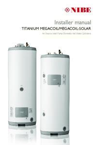 MEGACOIL-SOLAR. Air Source Heat Pump Domestic Hot Water Cylinders