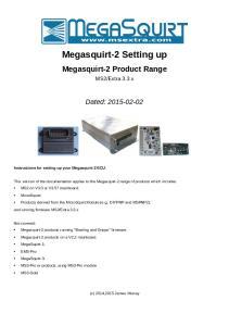 Megasquirt-2 Setting up