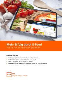 Mehr Erfolg durch E-Food Wie Sie von der Revolution profitieren