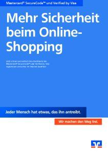Mehr Sicherheit beim Online- Shopping