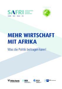 MEHR WIRTSCHAFT MIT AFRIKA