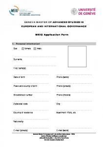 MEIG Application Form