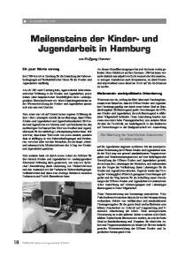 Meilensteine der Kinder- und Jugendarbeit in Hamburg