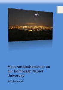 Mein Auslandsemester an der Edinburgh Napier University