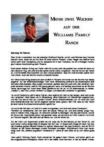 Meine zwei Wochen auf der Williams Family Ranch