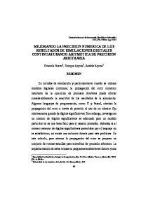 MEJORANDO LA PRECISION NUMERICA DE LOS RESULTADOS DE SIMULACIONES DIGITALES CONTINUAS USANDO ARITMETICA DE PRECISION ARBITRARIA