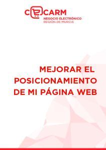 MEJORAR EL POSICIONAMIENTO DE MI PÁGINA WEB