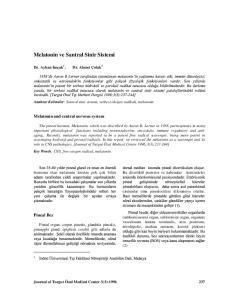 Melatonin ve Santral Sinir Sistemi