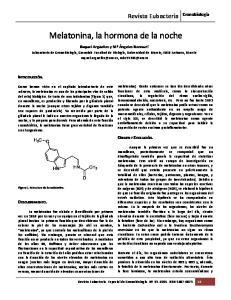 Melatonina, la hormona de la noche