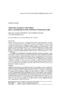 Melatonina, nietypowy antyoksydant. Rola w patofizjologii choroby Alzheimera. Propozycje terapii