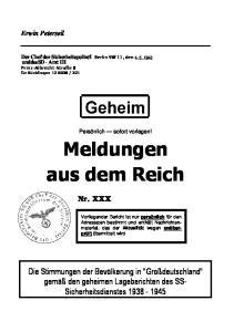 Meldungen aus dem Reich
