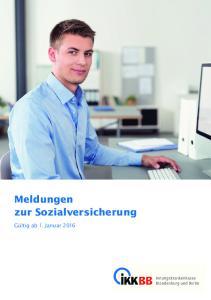 Meldungen zur Sozialversicherung