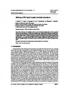 Melting of 2D liquid crystal colloidal structure