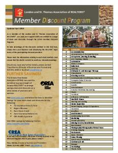 Member Discount Program