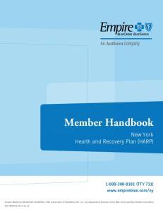 Member Handbook. New York Health and Recovery Plan (HARP) (TTY 711)