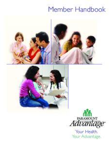 Member Handbook. Your Health. Your Advantage