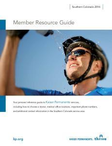 Member Resource Guide