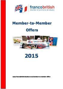 Member-to-Member Offers
