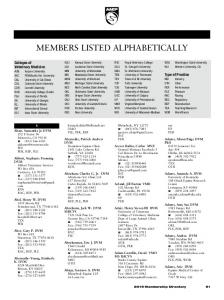 MEMBERS LISTED ALPHABETICALLY