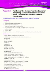 Members of the Chinese Medicine Council of Hong Kong, Chinese Medicine Practitioners Board, Chinese Medicines Board and its Committees